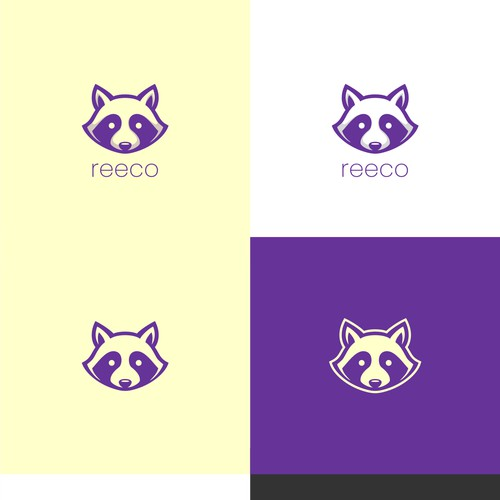 Racoon face mobile app logo design