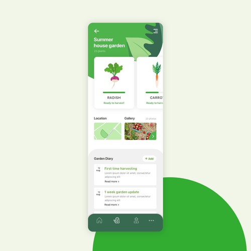 App design for garden management