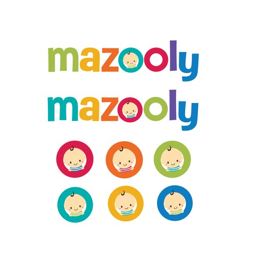 Cute and colorful logo for the baby products company