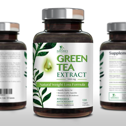 Nature's nutrition green tea extract label