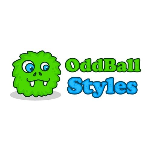 cute monster logo concept