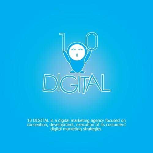Logo concept for 10 Digital