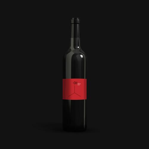 Minimal design wine label