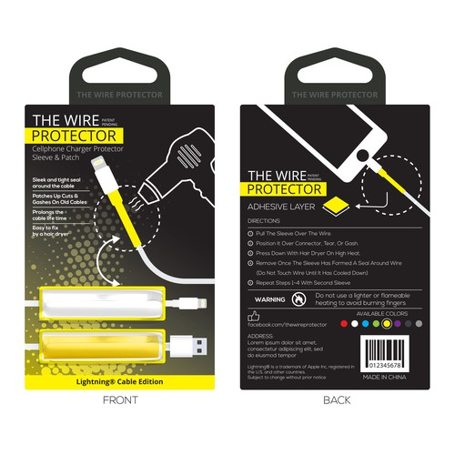 "Packet Design for the Product ""TheWireProtector"""