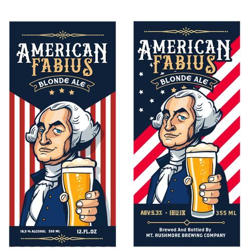 American Fabius label design