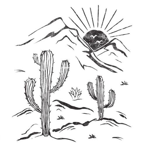 Retro, boho style cactus