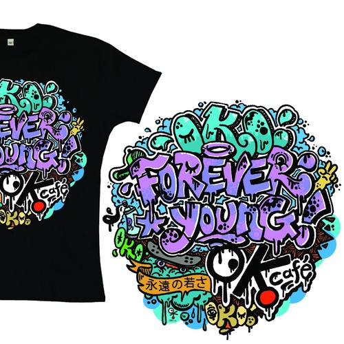 Forever Young Graffiti T-Shirt