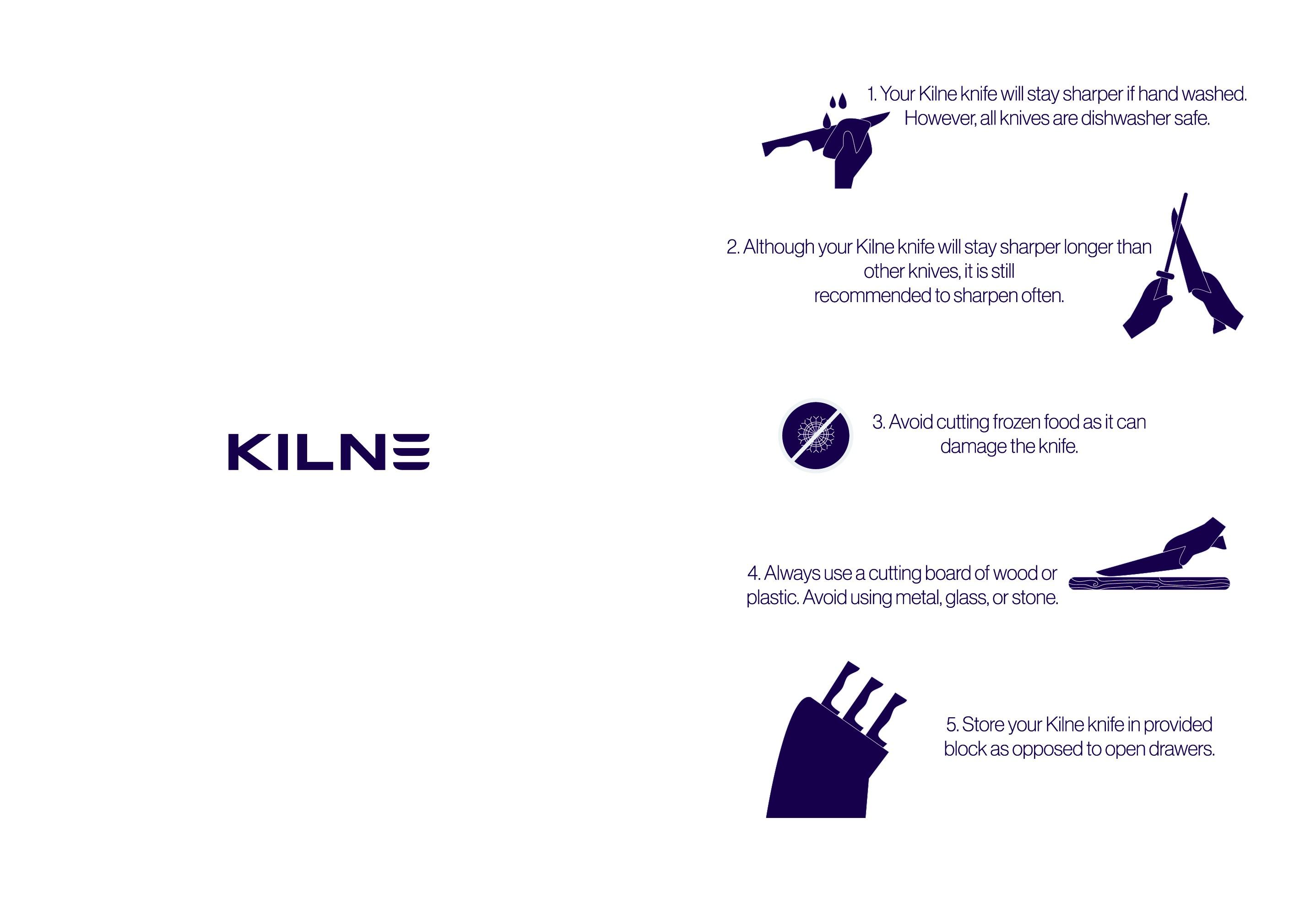 Instruction Card for Knife Set