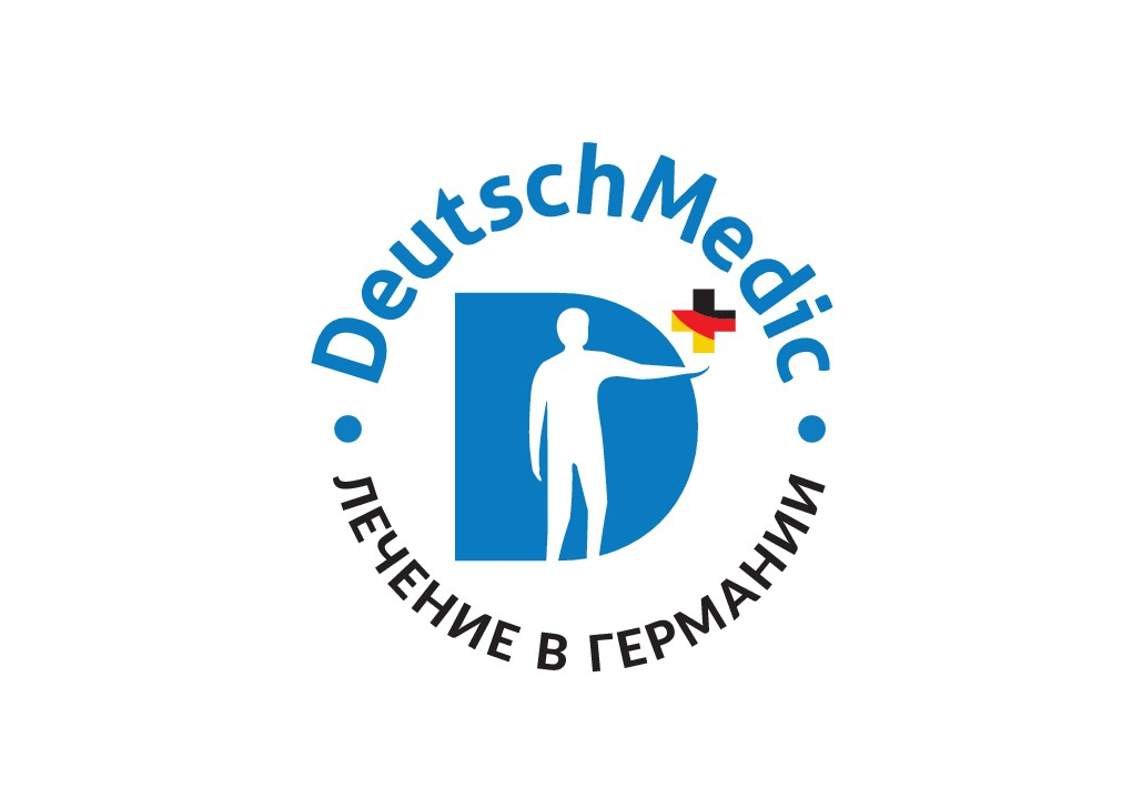 Logo for an international agency in medical/health-tourism, representing german medicine and treatment on foreign market