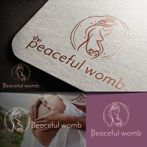 Pregnancy themed logo