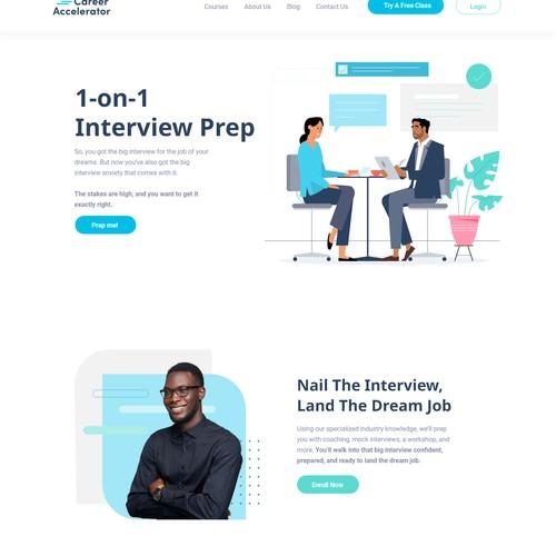 Career Accelerator website redesign