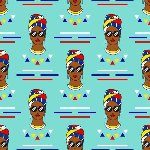 African Women Fabric Pattern