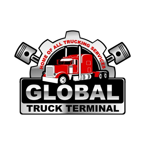 A creative logo for truck repair company