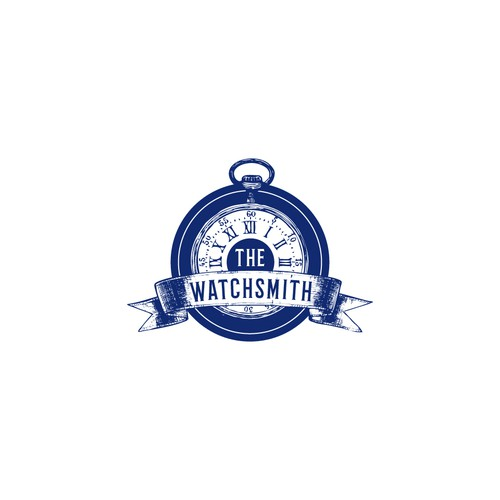 Vintage watchmaker pocketwatch logo
