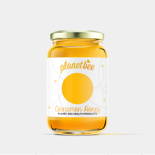 Cute, homey design for honey label.