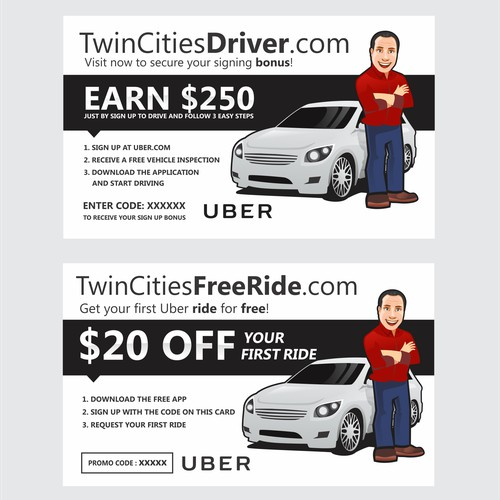Mascot for Uber driver.