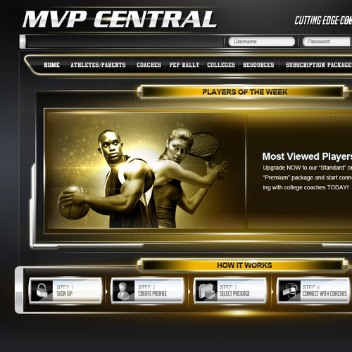 Create the next Cutting Edge College Recruitment Website design for MVP CENTRAL