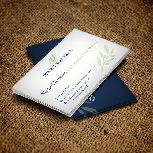 Logo and Business Card for Sacramento Divorce Solutions