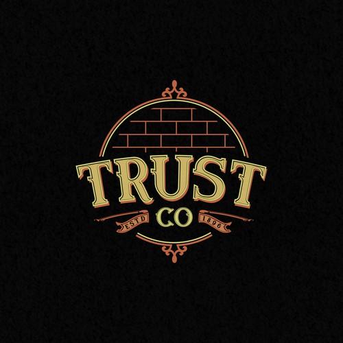 Logotype concept Trust Co.