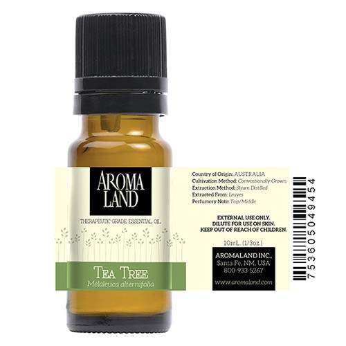 Bottle Label for Essential Oil