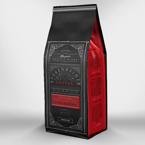 Vintage inspired coffee packaging
