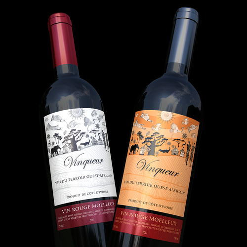 Wine made in Ivory Coast in West Africa
