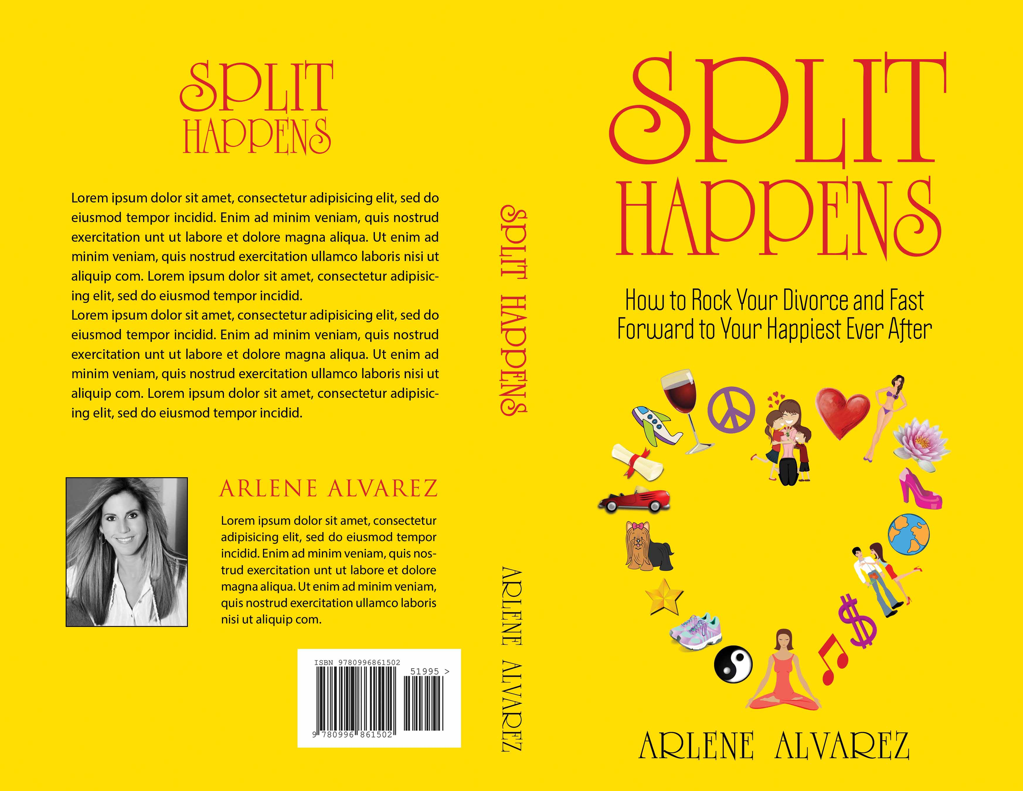 CREATE AN EYE-CATCHING, INSPIRING FRONT/BACK BOOK COVER FOR HAPPY DIVORCE BOOK