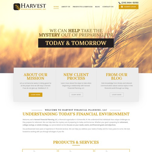 Landing Page - Harvest Financial Planning, LLC