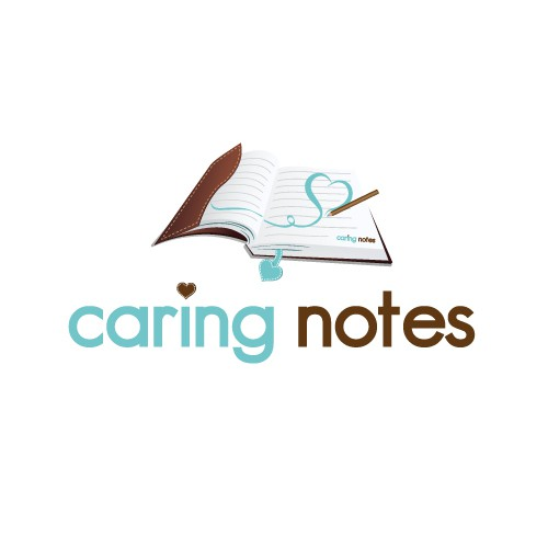 """logo for """"Caring Notes""""  Creative Designers.....where are you?"""