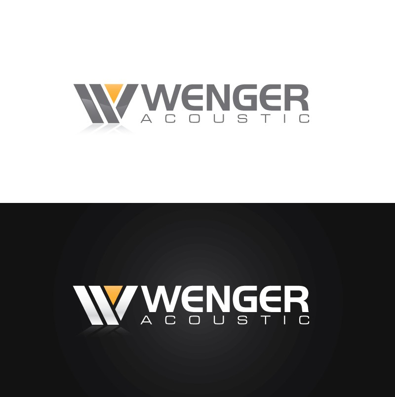 Technical, sound related logo for wengeracoustic