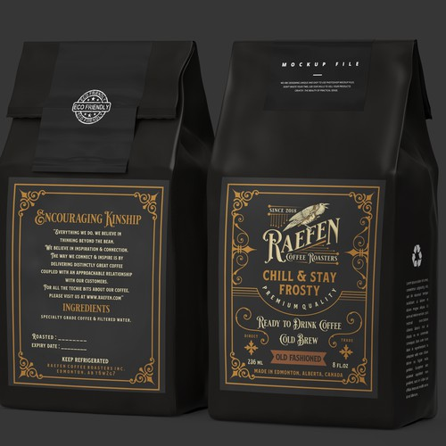 Label and Logo Design for Raefen Coffee Roasters
