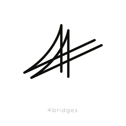 A logo for a new fashion brand named Four Bridges