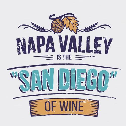 San Diego Beer T-shirt design