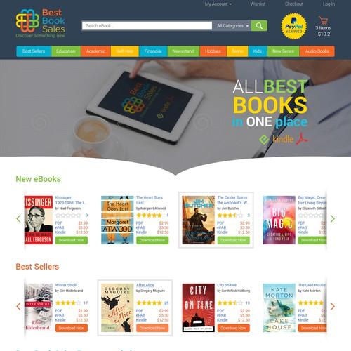 landing Page for eBooks Store
