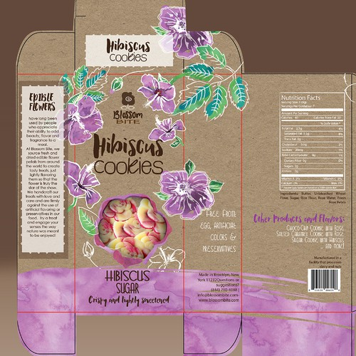 BEAUTIFUL PACKAGE DESIGN FOR HIBISCUS COOKIES