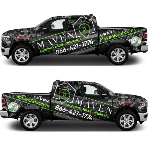 Design Vehicle Wraps & Logos for our new fleet