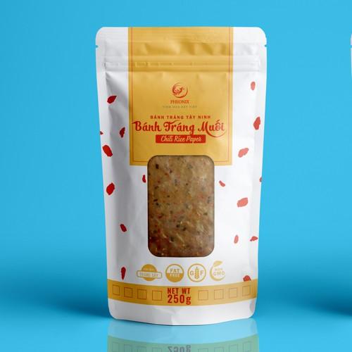 Bánh Tráng Muối Packaging Design