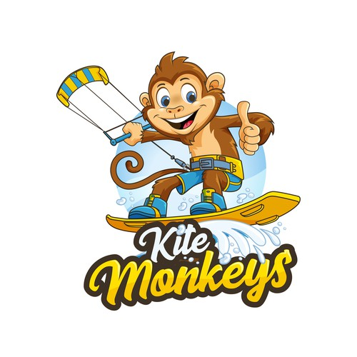 Kite Monkeys character logo