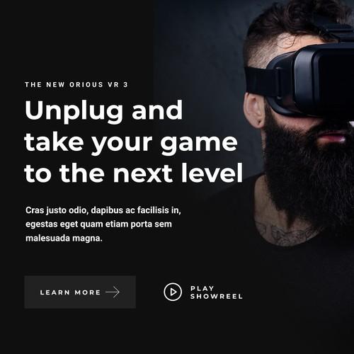 VR Virtual Reality Game Platform Web Design