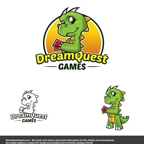 DreamQuest Games needs to update our cute and playful DRAGON logo $$ GUARANTEED!