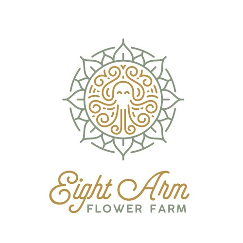 Octopus and Flower Logo