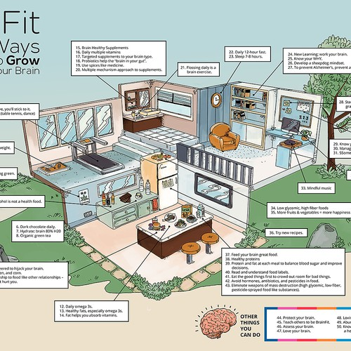 Brain Fit Infographic