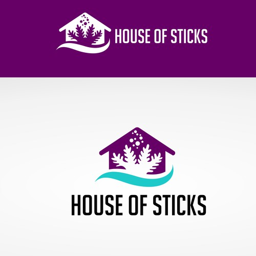 modern logo design concept for Logo design for House of Sticks - a coral reef aquarium vendor