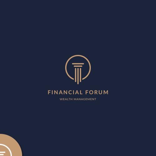 """Logo design for """"Financial Forum"""""""