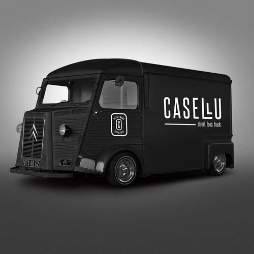 Logo for a foodtruck in Corsica