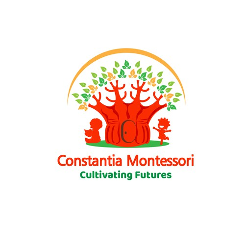 logo for a new Montessori pre-school in South Africa