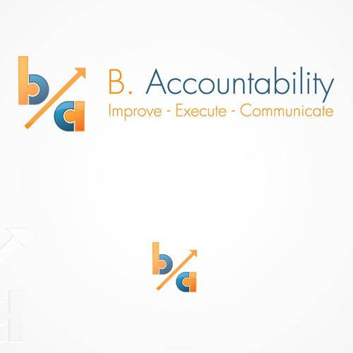 Simple, iconic accounting logo design.