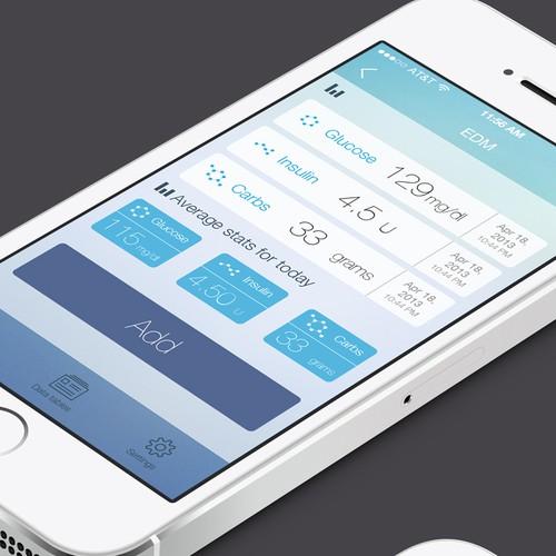Design for diabetes management app