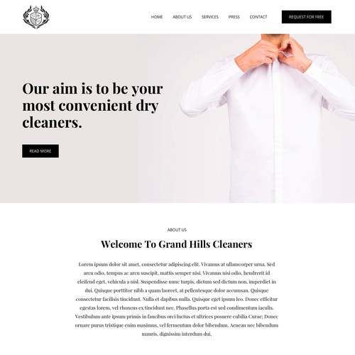 Website Design for Grand Hills Cleaners