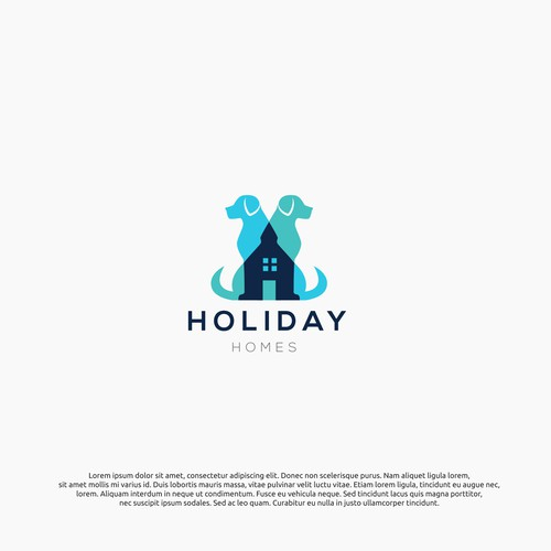 logo concept for holiday homes